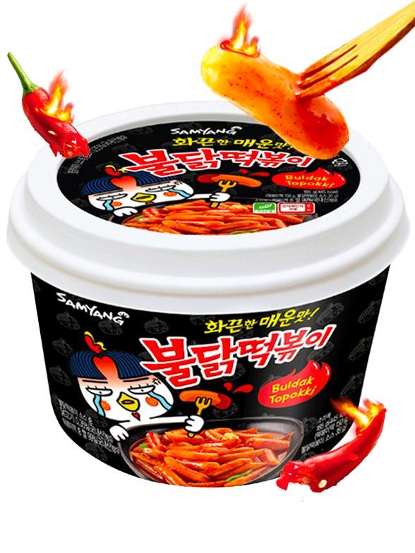 Mochis Topokki Coreanos ULTRA HOT Chicken Bowl 185 grs.