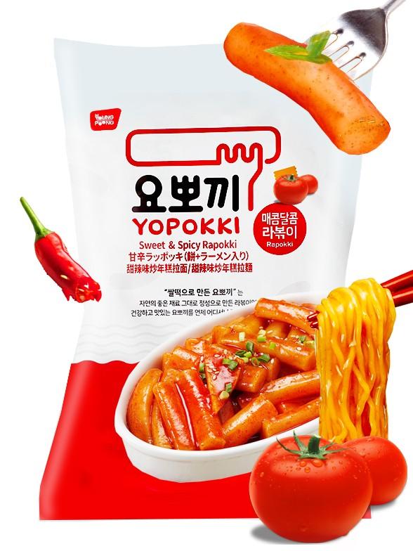 Rapokki | Mochis Coreanos Tteokbokki con Ramen y Salsa de Tomate Picante | 260 grs.