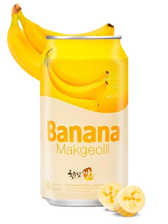 Vino de Arroz Coreano, Makgeolli con Banana   350 ml.