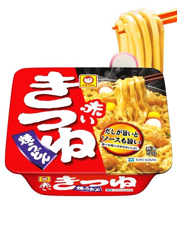 Fideos Yaki-Udon Salteados Akai Kitsune 101 grs.