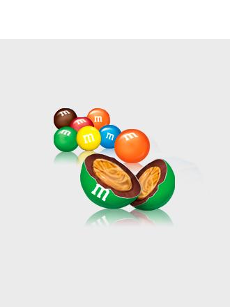 M&M's de Chocolate rellenos de Crema de Cacahuete