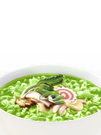 Fideos Ramen Coreanos de Té Verde y Algas Clorela