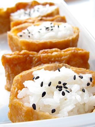 Saquitos de Tofu Frito para Inari Sushi