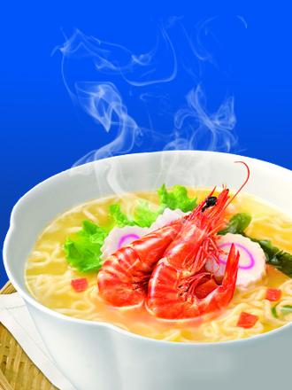 Fideos Ramen con Gambas Braseadas | Colossal Bowl Premium