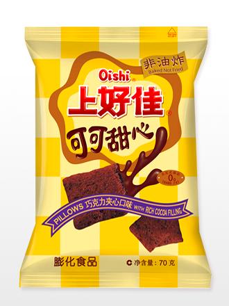 Almohadillas Chocolateadas y con relleno de Crema de Cacao y Leche