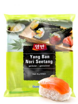 Alga Nori Coreana Oscura para Sushi