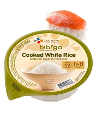 Arroz Coreano Cocido con Agua de Manantial 1 Ración