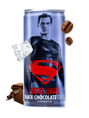 Chocolate Negro con Café | La Liga de la Justicia | Superman 210 ml