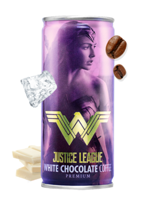 Chocolate Blanco con Café | La Liga de la Justicia | Wonder Woman 210 ml