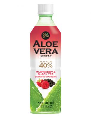 Bebida de Nectar de Aloe Vera, Té Negro y Frambuesa