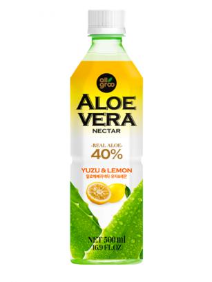 Bebida de Néctar de Aloe Vera, Yuzu y Limón