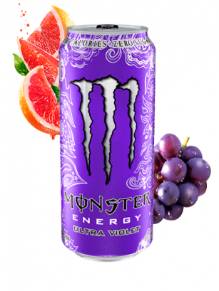 Monster Ultra Violet Grape Citric ZERO SUGAR | 500 ml