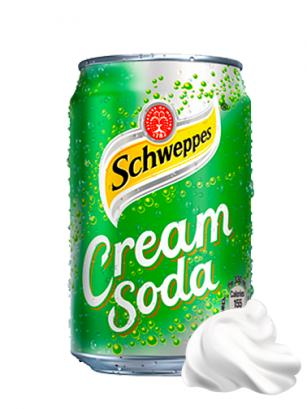 Soda con Crema de Helado | Schweppes Cream Soda 330 ml