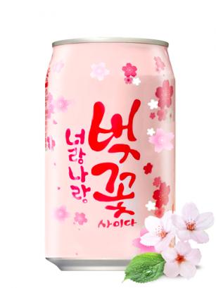 Soda Coreana de Flor de Cerezo Sakura 350 ml