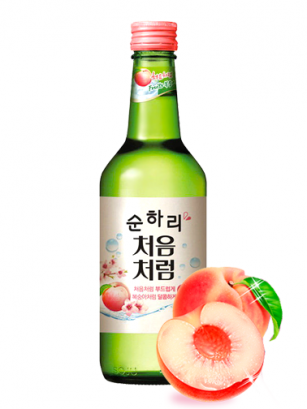 Licor Coreano Soju Chum Churum Melocotón Rosado 360 ml