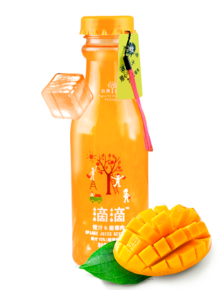 Bebida de Zumo de Mango y Coco Toppings 460 ml