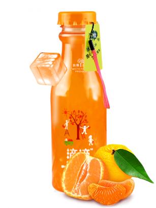 Bebida de Zumo de Naranja y Coco Toppings 460 ml