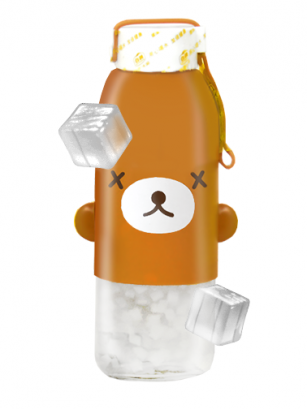 Bebida de Coco y Toppings | Kawaii 6 Diseños Botella Cristal 300 ml