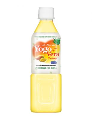Bebida Coreana de Yogur con Aloe Vera y Mango
