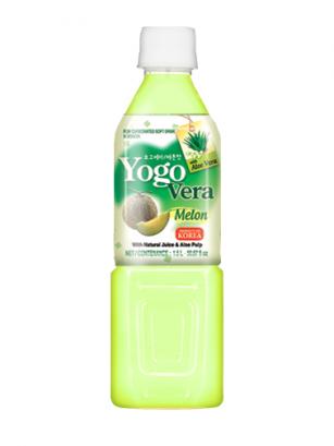 Bebida Coreana de Yogur con Aloe Vera y Melón