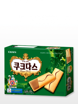 Biscuits Coreanos rellenos de Crema de Coffee Latte