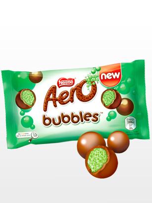 Pops de Chocolate Aero rellenos de Mousse de Menta Peppermint | 36 grs.