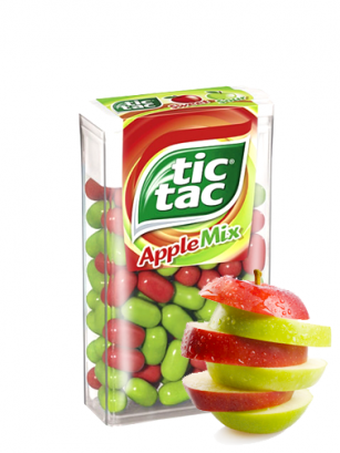 Caramelos Tic Tac Mix Manzana Roja y Verde 18 grs