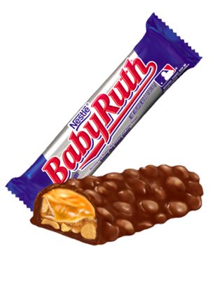 Barrita de Chocolate, Caramelo, Nougat y Cacahuetes | Baby Ruth 54 grs.