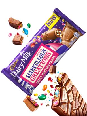 Chocolate Cadbury con Gominolas y Pica Pica | Marvellous Creations 180 grs