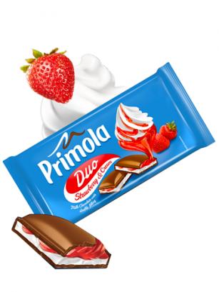 Chocolate Primola de Nata y Fresas 89 grs