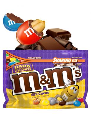 M&M's de Cacahuete y Chocolate Negro BIG SIZE | Pedido GRATIS!