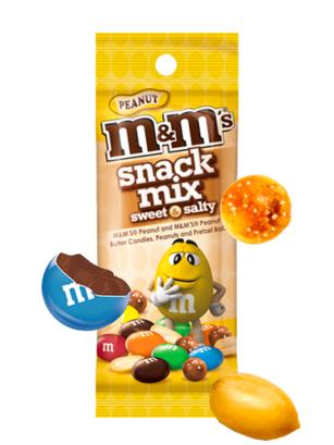 Mezcla de M&M's de Chocolate con Cacahuetes y Pretzels Salados 49 grs