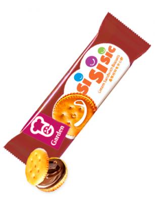 Galletas Saladas rellenas de Crema de Chocolate 50 grs