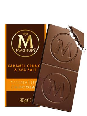 Magnum Chocolate con Caramelo Crujiente y Sal Marina 90 grs