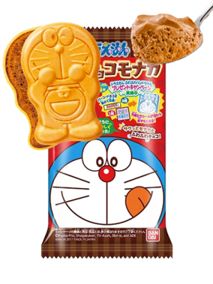 Doraemon de Barquillo y Mousse de Chocolate