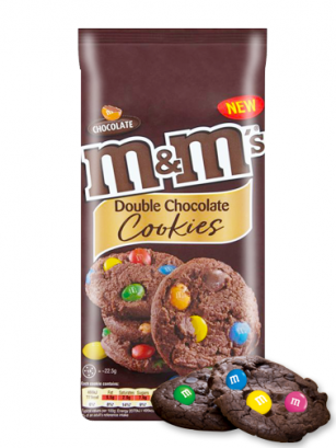 Cookies Chocolateadas Toppings de Chocolate y M&M's 180 grs