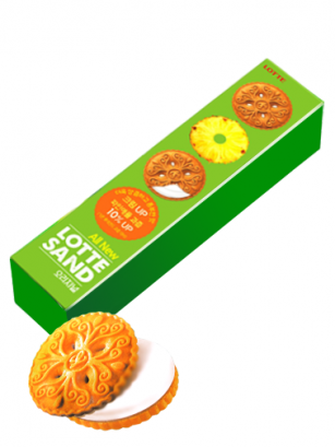 Galletas Coreanas de Crema de Piña | Lotte | New Design