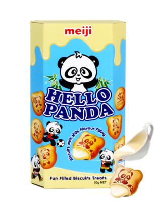 Galletas Meiji Hello Panda de Crema de Vainilla