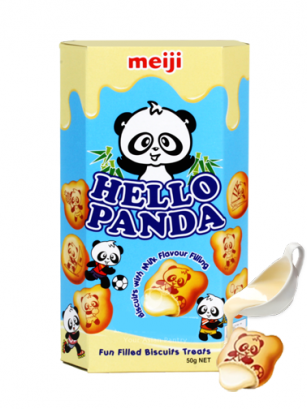 Galletas Meiji Hello Panda de Crema de Leche