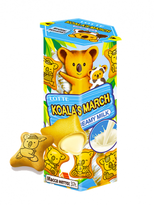 Galletas Koara Choco Blanco y Leche 37 grs