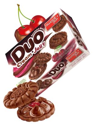 Galletas de Cacao con Crema y Cereza Ácida  | ODuo 142 grs | Pedido GRATIS!