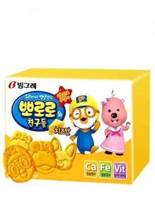 Galletas Coreanas de Pororo de Queso 65 grs