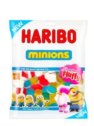 Gominolas Minions y Fluffy 6 Sabores | Haribo 140 grs