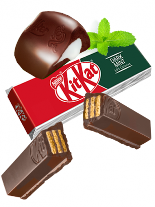 Kit Kat Chocolate Negro y Menta | Edición 2 Barritas