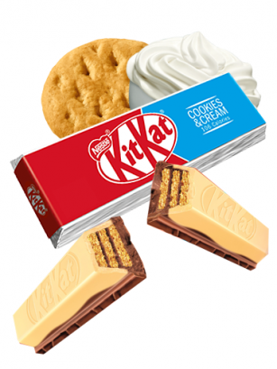 Kit Kat de Cookies & Cream 2 Chocolates | 2 Barritas