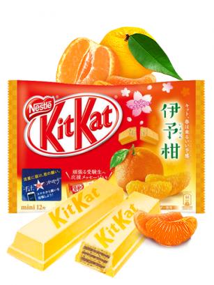 Mini Kit Kats de Naranja Japonesa Iyokan | 12 Unidades