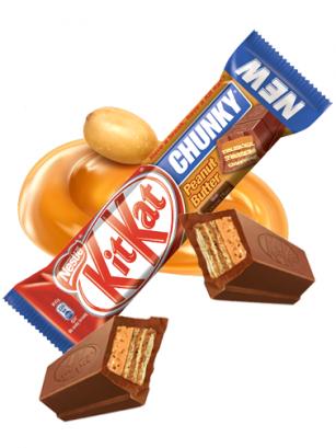 Gran Kit Kat de Chocolate y Crema de Cacahuete 42 grs.