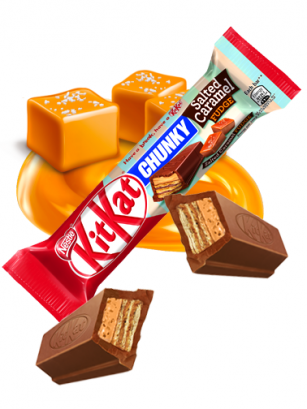 Gran Kit Kat de Chocolate y Caramelo Cremoso Salty 42 grs