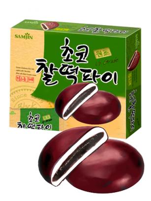 Mochis Coreanos de Chocolate rellenos de Sésamo Dulce 310 grs