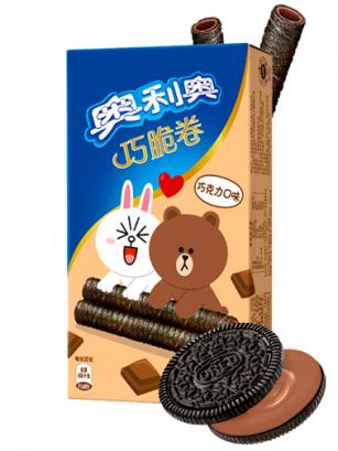 Sticks de Barquillo de Oreo rellenos de Chocolate | Edición Line Friends 55 grs
